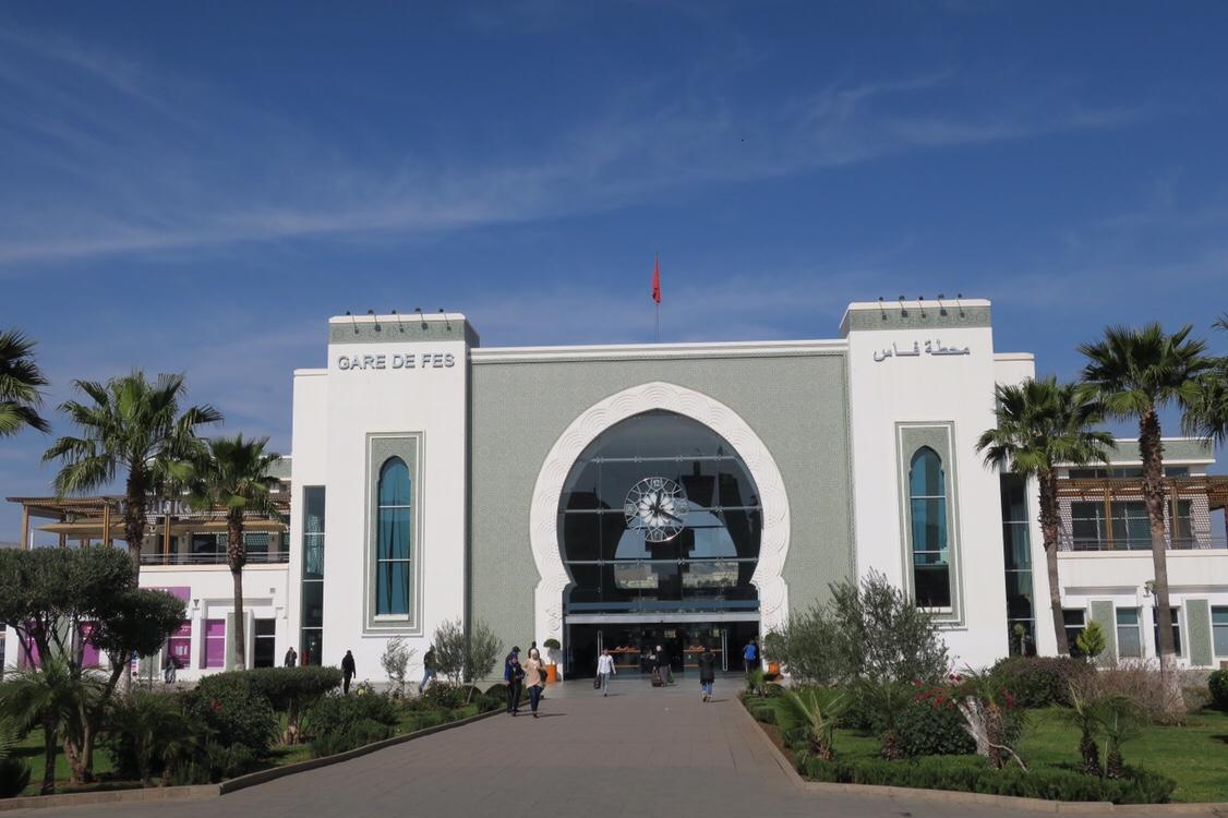 摩洛哥Fez的火車站
